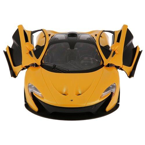 Легковой автомобиль Rastar Mclaren P1 (75110) 1:14 32 см желтый/черный автомобиль радиоуправляемый rastar 1 6 hummer h1 suv желтый