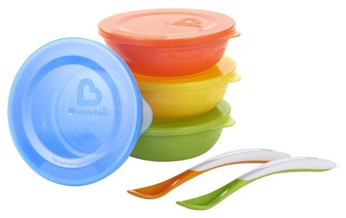 Комплект посуды Munchkin Love-a-bowls (12106)