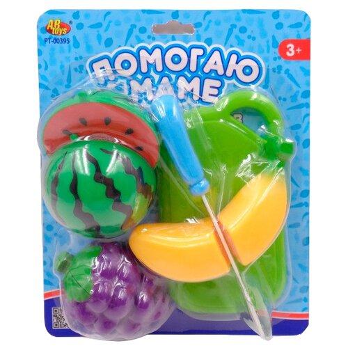 Купить Набор продуктов с посудой ABtoys Помогаю маме PT-00395 разноцветный, Игрушечная еда и посуда