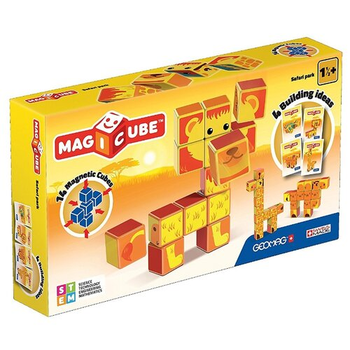 Купить Магнитный конструктор GEOMAG Magicube 135-14 Парк Сафари, Конструкторы
