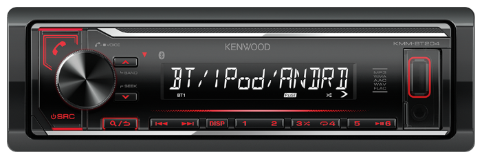 Автомагнитола KENWOOD KMM-BT204