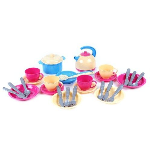 Купить Набор посуды ТехноК Маринка-11 1653 разноцветный, Игрушечная еда и посуда