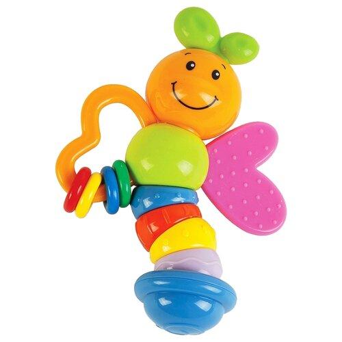 Купить Прорезыватель-погремушка Жирафики Бабочка Мия разноцветный, Погремушки и прорезыватели