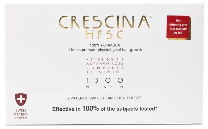 Crescina Ампулы комплекс для мужчин, дозировка 1300: очень сильное выпадение волос