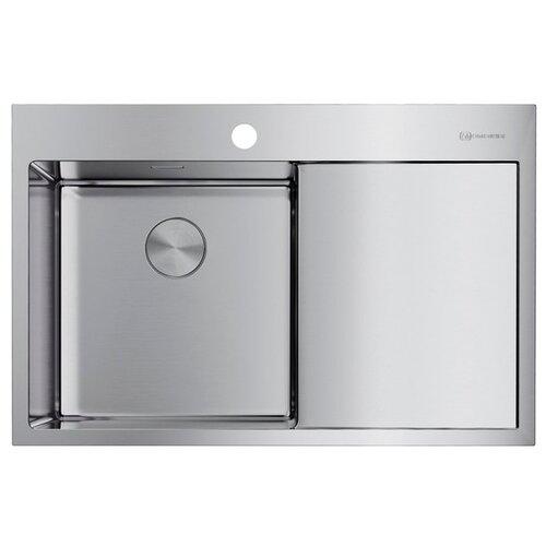 Врезная кухонная мойка 78 см OMOIKIRI Akisame 78-IN-L 4973060 нержавеющая сталь