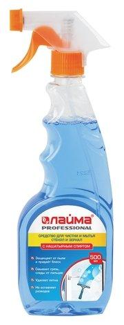 Спрей Лайма Professional для мытья стекол и зеркал с нашатырным спиртом (триггер)
