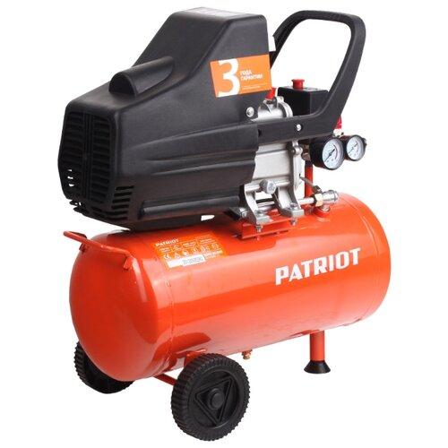 Компрессор масляный PATRIOT Euro 24-240, 24 л, 1.5 кВт воздушный компрессор patriot ptr 80 260а