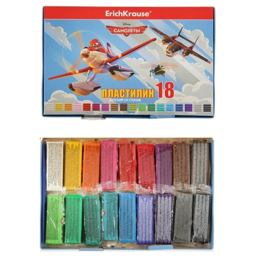Пластилин ErichKrause Flying Planes 18 цветов/324г (39625)