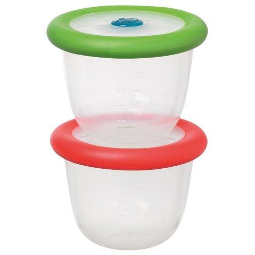 Набор контейнеров Bebe confort для хранения и разогрева пищи по 150 мл зеленый/красный