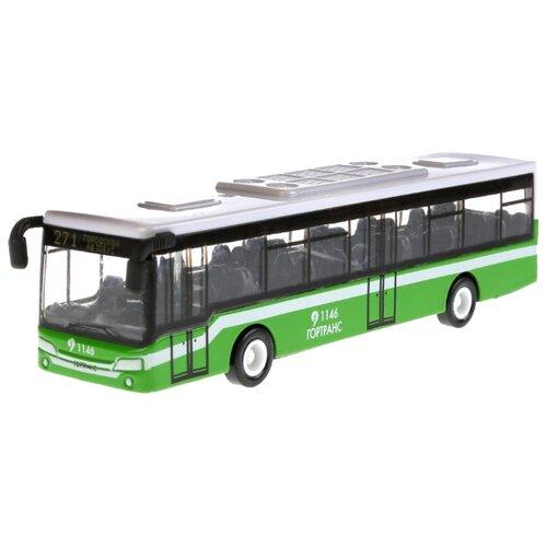 Купить Автобус ТЕХНОПАРК 1538052-R 14.5 см зеленый/белый, Машинки и техника