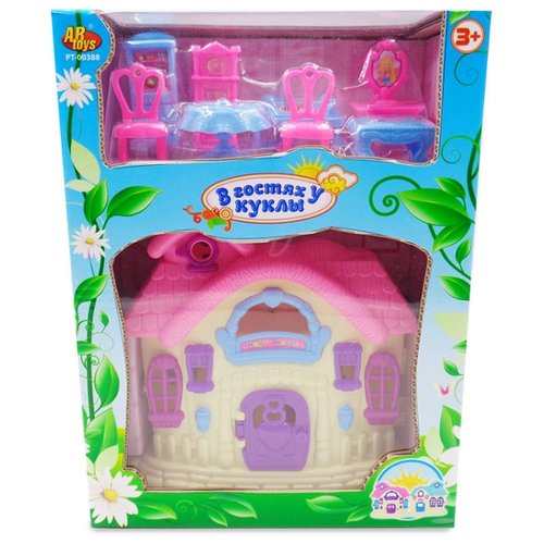 Купить ABtoys кукольный домик В гостях у куклы PT-00388, Кукольные домики