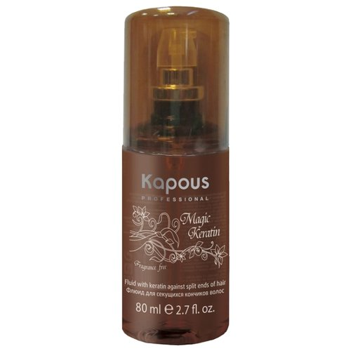 Kapous Professional Fragrance free Флюид для секущихся кончиков волос Magic Keratin, 80 мл шампуни для выпрямления волос kapous professional