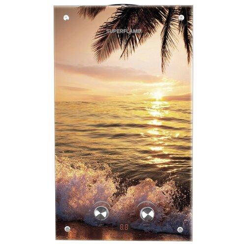 Проточный газовый водонагреватель Superflame SF0120 10L Glass, пляж