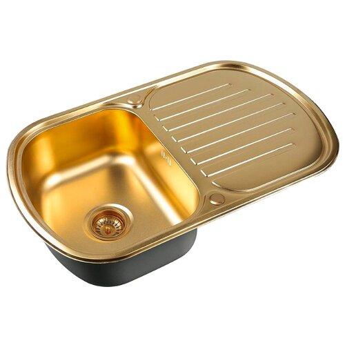 Фото - Врезная кухонная мойка 77 см ZorG PVD SZR-7749 BRONZE бронза врезная кухонная мойка 78 см zorg szr 78 2 51 r bronze бронза
