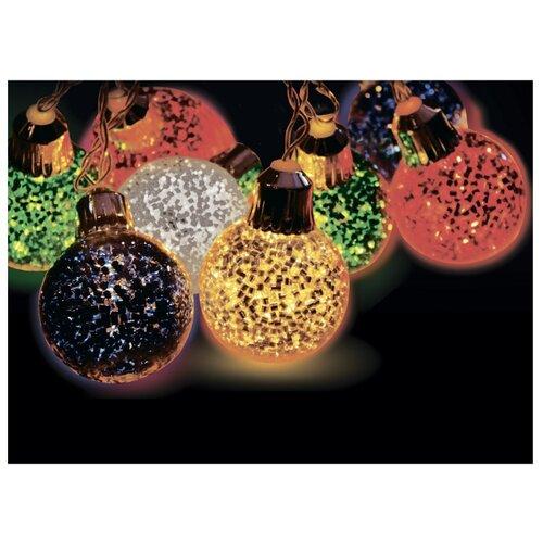 Гирлянда Sh Lights Карнавальные шарики, 180 см, BLD10M-WW, 10 ламп, теплые белые диоды/прозрачный провод