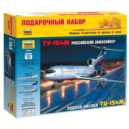 Купить Сборная модель ZVEZDA Российский авиалайнер ТУ-154М (7004PN) 1:144, Сборные модели