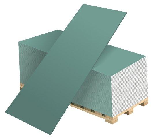 Гипсокартонный лист (ГКЛ) Волма влагостойкий 2500х1200х9.5мм