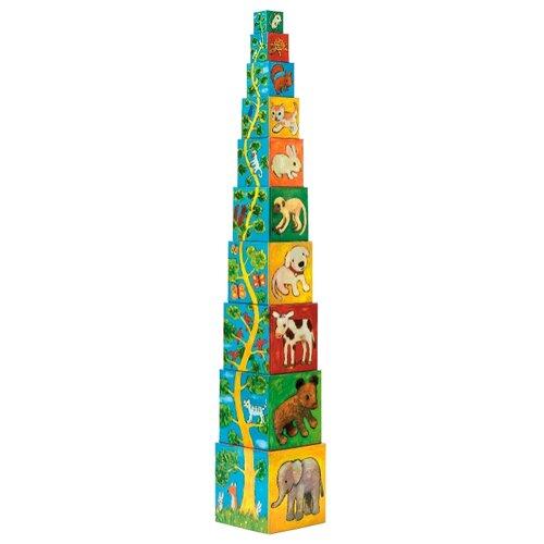 Купить Кубики-пазлы DJECO Мои друзья, Детские кубики
