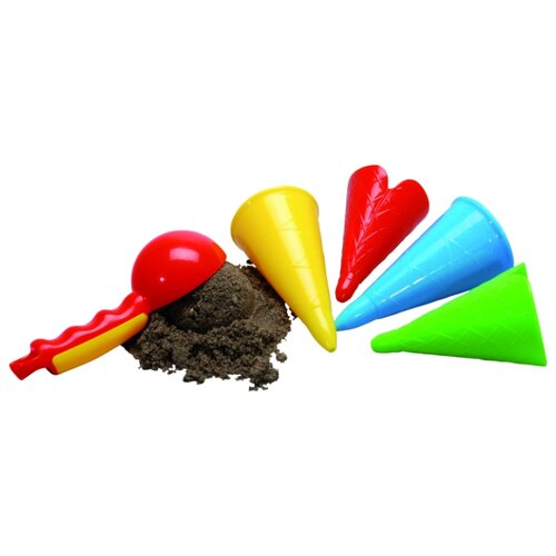 Набор Gowi 558-41 Ложка и рожки для мороженого красный/желтый/голубой/зеленый недорого