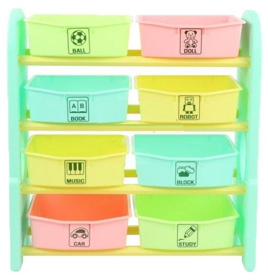 EDU PLAY Стеллаж для игрушек с ящиками (76х36х80.5) [AR-7385MN]