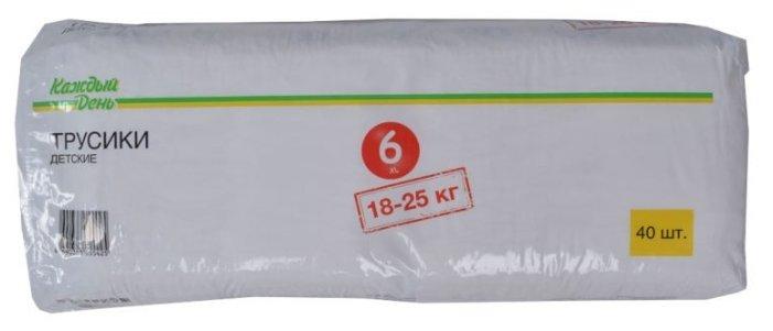 Каждый День трусики 6 (18-25 кг) 40 шт.