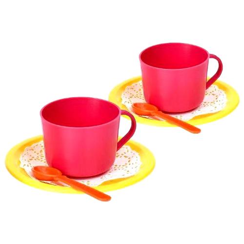Купить Набор посуды Росигрушка Малиновый чай 9413 красный/желтый, Игрушечная еда и посуда