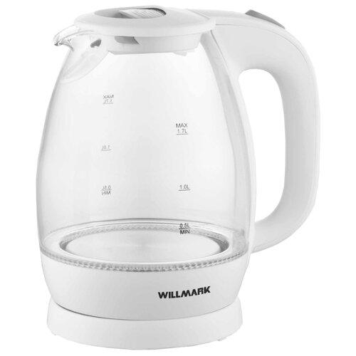 Чайник Willmark WEK-1705, белый чайник willmark wek 2009p белый фиолетовый