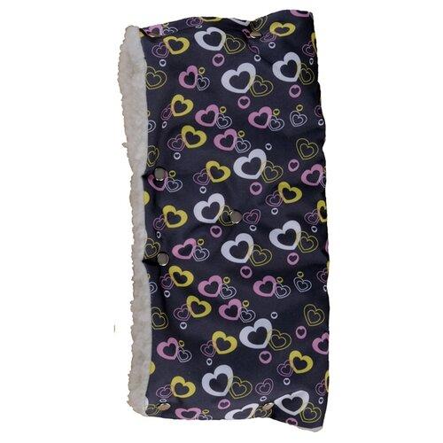 Купить Чудо-Чадо Муфта для рук меховая Комфорт сердечки, Аксессуары для колясок и автокресел