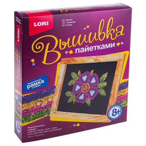 Купить LORI Картина из пайеток Цветик Вп-001, Картины из пайеток