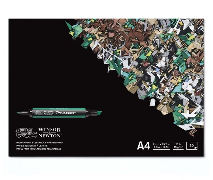 Альбом для маркеров Winsor & Newton Bleedproof 29.7 х 21 см (A4), 75 г/м², 50 л.