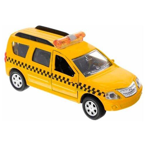 Фото - Легковой автомобиль ТЕХНОПАРК Lada Largus Такси (SB-16-47-T-WB), 12 см, желтый автобус технопарк рейсовый sb 16 88 blc 7 5 см желтый