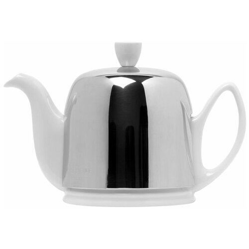Фото - Чайник заварочный Salam White (0.7 л), с колпаком, на 4 чашки 211988 Guy Degrenne чайник заварочный salam white 0 37 л с колпаком с ситечком на 2 чашки 211987 guy degrenne