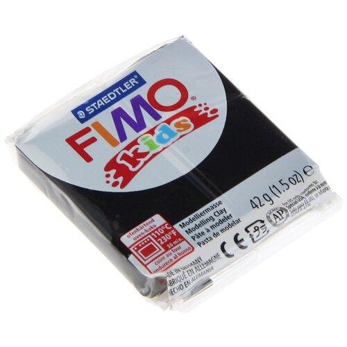 Полимерная глина FIMO Kids 42 г черный (8030-9)