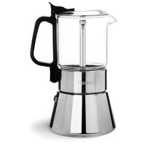 Гейзерная кофеварка Fissman 3319 (360 мл), серебристый