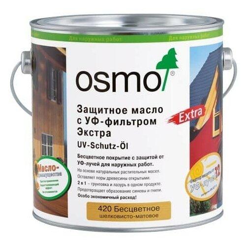 Фото - Масло OSMO UV-Schutz-Öl Extra, 420 бесцветный, 0.75 л масло dr schutz h2oil прозрачный 0 75 л