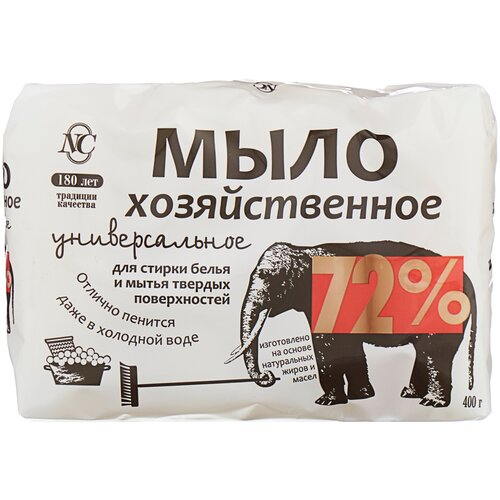 Фото - Хозяйственное мыло Невская Косметика универсальное 72% 0.4 кг хозяйственное мыло невская косметика солнышко с ароматом лимона 0 14 кг