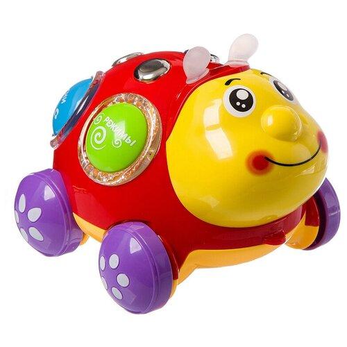 Интерактивная развивающая игрушка Play Smart Чудо жук, красный/желтый