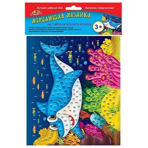 набор апплика мерцающая мозаика c1573 Апплика Мерцающая мозаика Веселая акула (С2420-17)