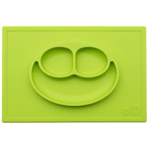 Купить Тарелка EZPZ Happy mat, lime, Посуда