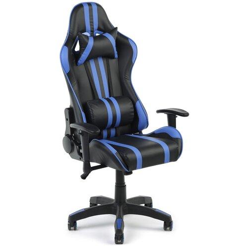 Игровое кресло Экспресс офис 659, обивка: искусственная кожа, цвет: искусственная кожа черно-синяя