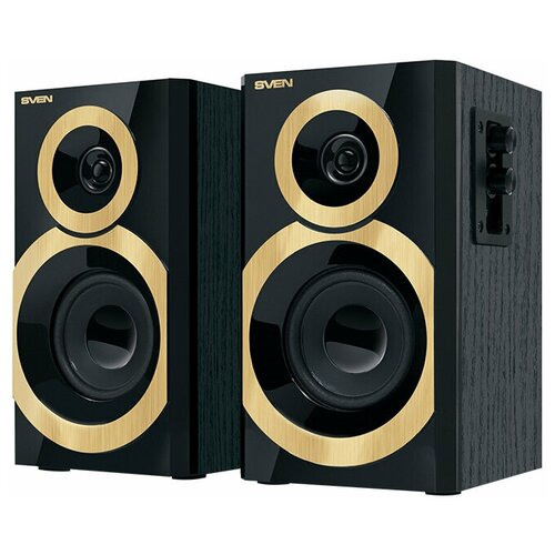 Компьютерная акустика SVEN SPS-619 GOLD черный / золотой компьютерная акустика sven sps 619 черный