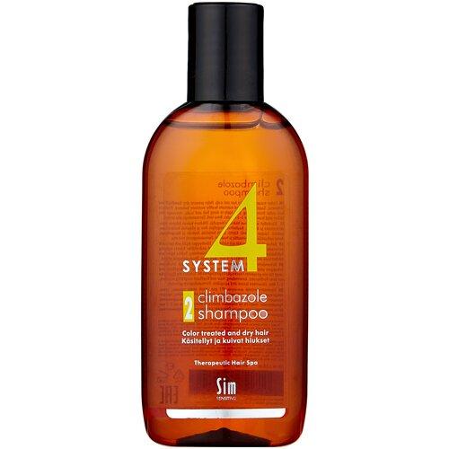 Купить Sim Sensitive терапевтический шампунь SYSTEM 4 Climbazole Shampoo 2 для сухих, окрашенных и поврежденных волос, 100 мл