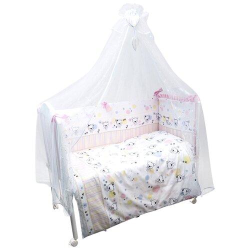 Фото - Сонный Гномик комплект Конфетти (7 предметов) нежно-розовый комплекты в кроватку сонный гномик конфетти 6 предметов