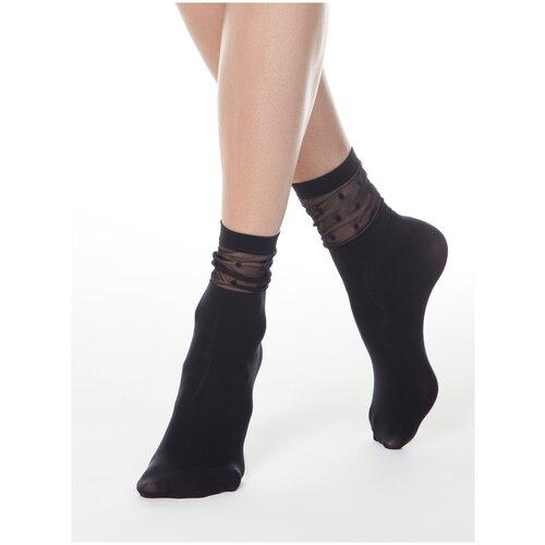 Капроновые носки Conte Elegant 19С-29СП, размер 23-25, nero