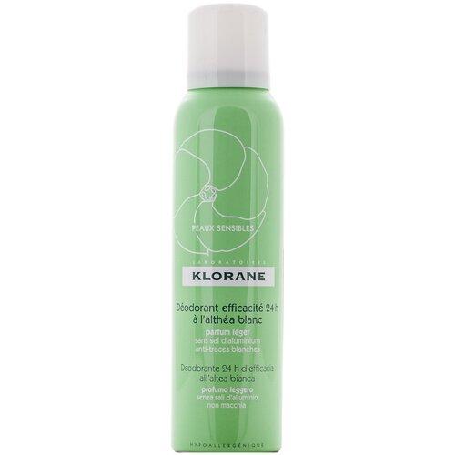 Klorane дезодорант, спрей, с белым алтеем 24 ч эффективности, 125 мл