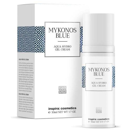 Купить Inspira Cosmetics Mykonos Blue Aqua Hydro Gel Cream Интенсивно увлажняющий гель-крем для лица, 50 мл