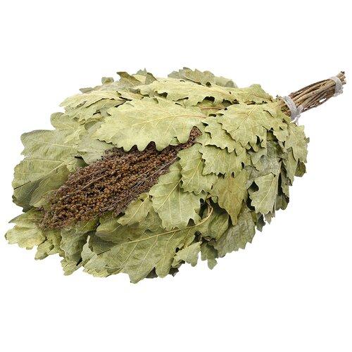 Банные штучки Веник дубовый с полынью зеленый