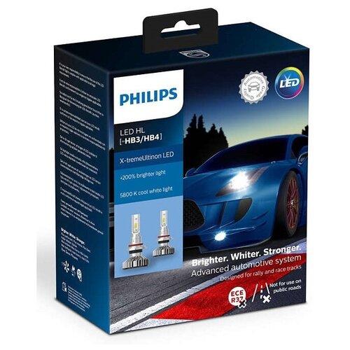 Лампа автомобильная светодиодная Philips X-tremeUltinon LED 11005XUWX2 HB3/HB4 12V 2 шт.
