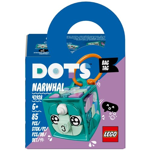 Конструктор LEGO DOTS 41928 Брелок Нарвал