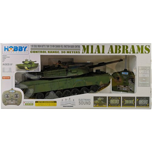 Купить Танк М1А1 Abrams (не стреляющий) HOBBY 1/16, Hobby Engine, Радиоуправляемые игрушки